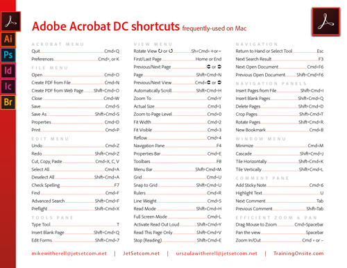 Acrobat DC shortcuts