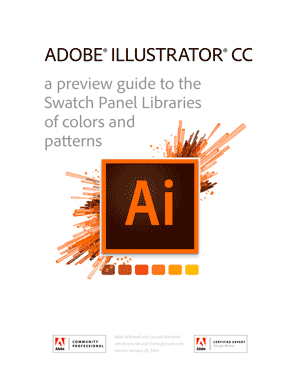Illustrator CC 2014 swatches