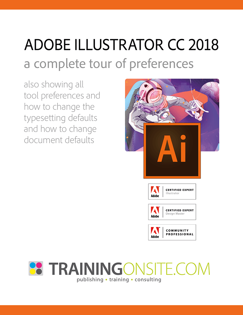 Illustrator CC 2018 tour preferences