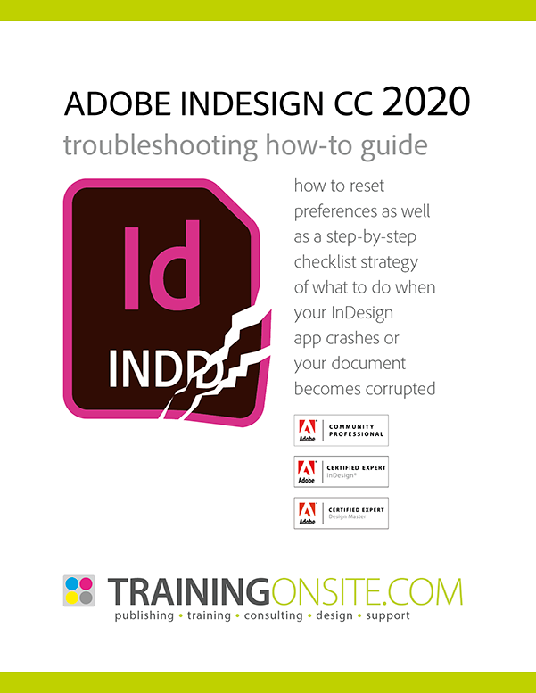 InDesign 2020 troubleshooting