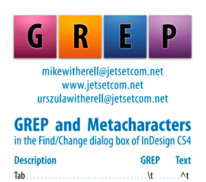 InDesign CS4 GREP and Metacharacters 1-column for smartphone