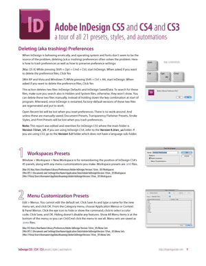 InDesign CS5 and CS4 and CS3 tour of 21 presets