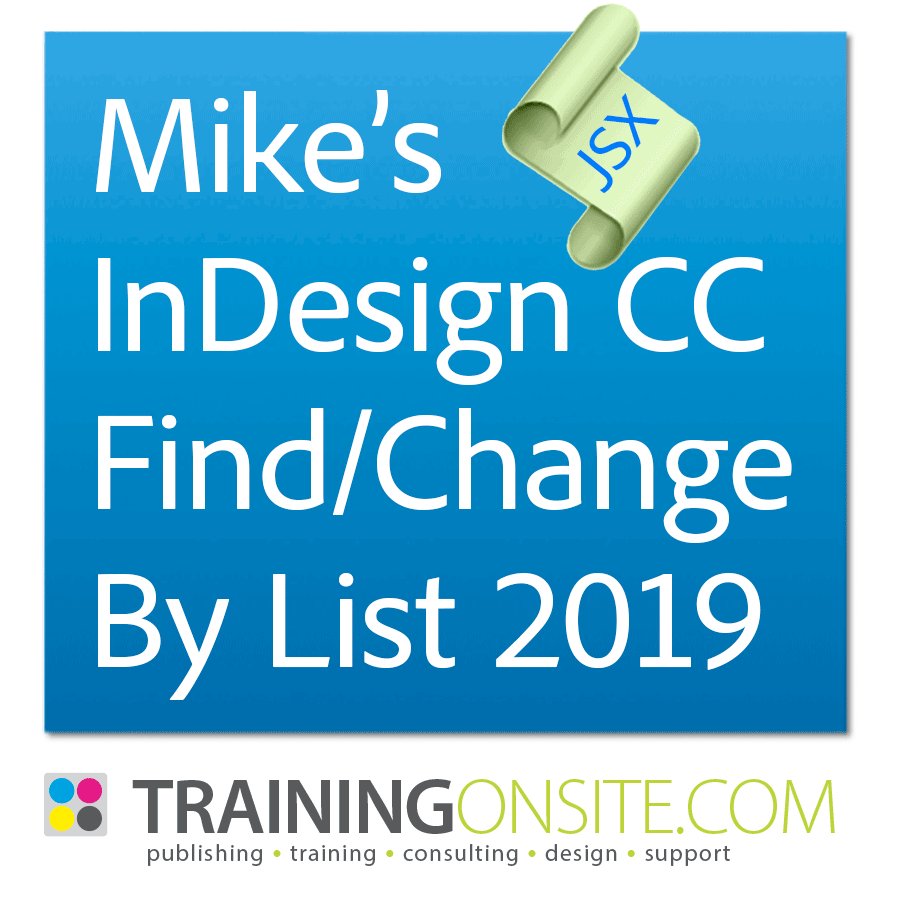 Mikes Find Change By List 2019