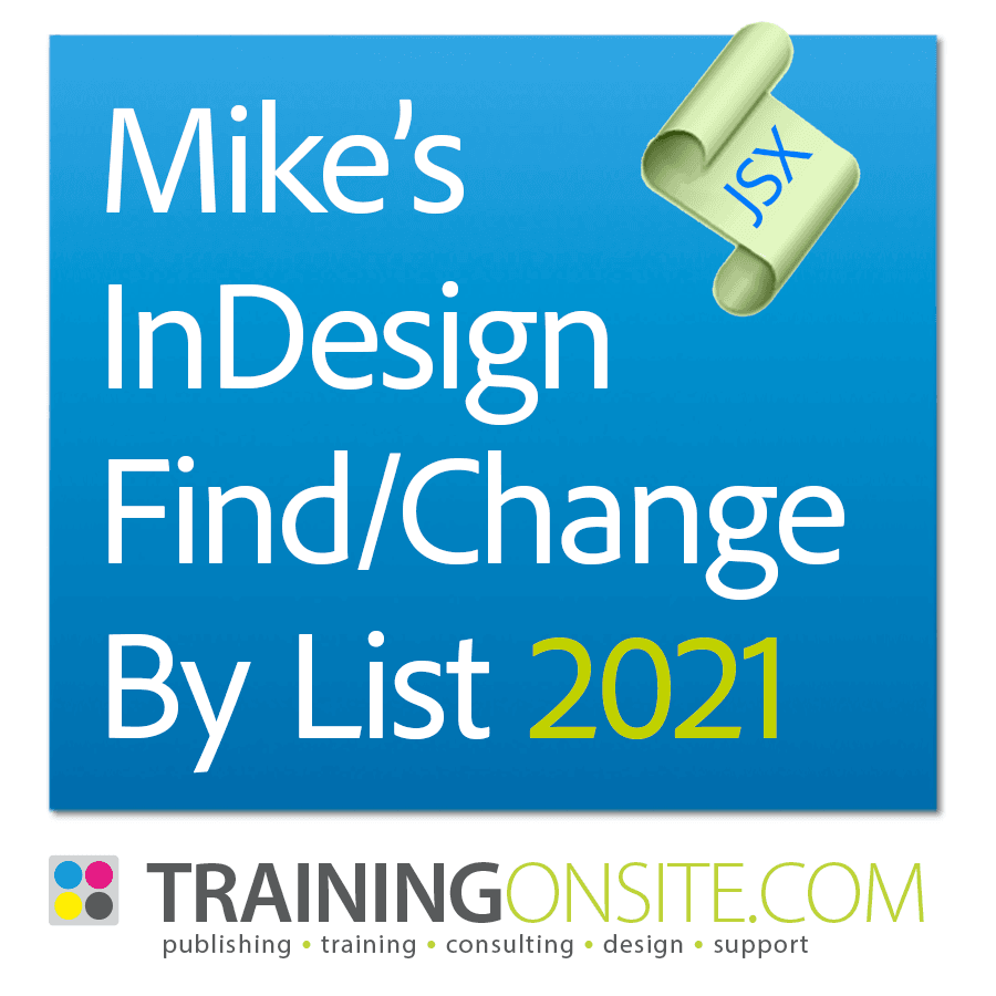Mikes Find Change By List 2021